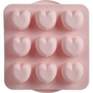 """Trudeau 10.9"""" x 9.9"""" Silicone Hearts Baking Pan"""